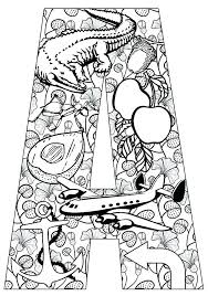 Innovation Coloring Pages A Letter The Page Sheets Alphabet Adults