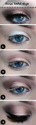 15 gorgeous makeup looks for blue eyes rose gold makeup blue eyeakeup vibrant blue eyeshadow tutorial