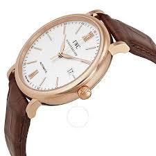 iwc portofino automatic silver dial 18kt rose gold men s watch 3565 04
