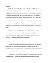 jack welch and transformational leadership college essays zoom