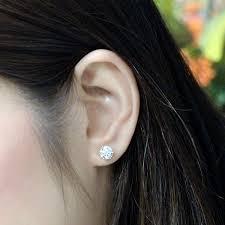 Diamond Education Earring Size Guide Diamondstuds Com