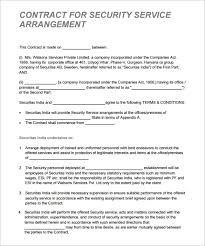 contract between 2 companies 12 security contract templates doc pdf free premium templates