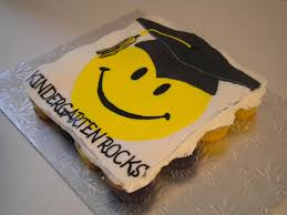 Graduation Smiley Face Cupcake Cake Cakecentralcom