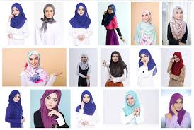 model muslimah cl tudung baju busana modelling peragawati