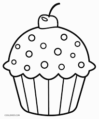 Vector isolated cake or cupcake, dessert coloring. Free Printable Cupcake Coloring Pages For Kids