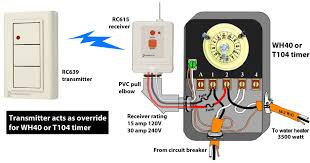 how to wire wh water heater timer rc939 transmitter rc613 receiver wh40 or t104 timer