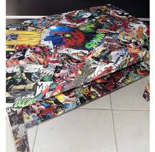diy comic book desk. CUSTOM Large Comic Collage Coffee Table Diy Book Desk T