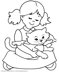 Small Picture Pet Cat Coloring Pages Free Printable Pretty kitty with a bow
