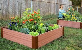 tool free classic sienna raised garden bed 4 x 4 x 11 1 profile