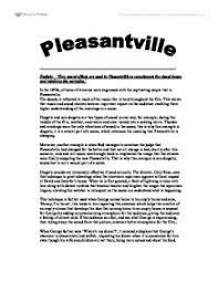 explain how sound effects are used in pleasantville to complement  page 1 zoom in