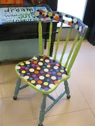 cool painted chairs. jez4u adorable handpainted old wood sturdy chair made new and fresh again with cheerful paint i cool painted chairs