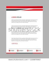 Letterhead Templates Design Professional Letterhead Templates Design Vector Illustration Stock