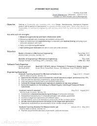 Resume Template Sales Mechanical Engineer Engineering Entry Level