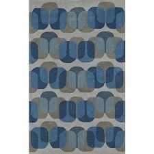 addison taylor modern geometric blue gray area rug