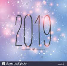 Happy New Year 2019 background. Colorful Greeting card. Vector ...