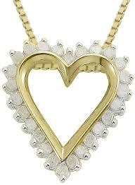 jcpenney fine jewelry ct tw diamond heart 14k yellow