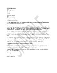 sample letter for termination for just cause how to write a termination letter to an employer