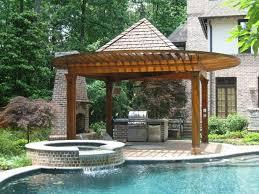 Kitchen  Brilliant Outdoor Kitchen Designs In Outdoor Kitchen - Outdoor kitchen designs with pool