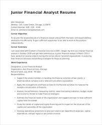 Credit Analyst Resume Impressive Junior Financial Analyst Resume Towelbarsus