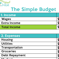 simple printable budget worksheet simple budget worksheet wevo