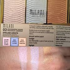 Milani Stellar Lights Highlighting Palette Holographic