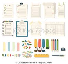 Agenda List Agenda List Vector Business Paper Clipboard In Flat Style Self Adhesive Checklist Notes Schedule Calendar Planner Organizer Article Illustration