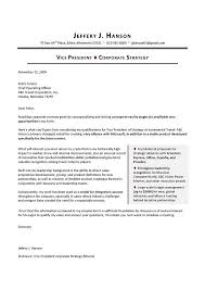 sample cover letter for vp corporate strategy executive resume cover letter for counseling internship