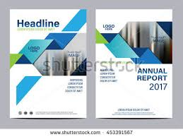 Annual Report Template Design Delectable Blue Brochure Layout Design Template Annual Stock Vector 48