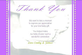 Baby Gift Thank You Note Appreciation Card Wording Thank You Card Wording Baby Shower