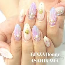 Ginza Bonny旭川店さんの投稿 マーメイドネイル貝殻部分がか