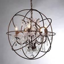 orb crystal chandelier rustic iron replica pertaining to modern house rustic crystal chandelier plan