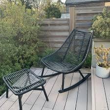 partners woven garden rocker chair