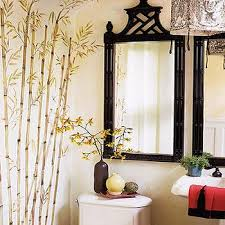 Small Picture Bamboo Silver Wall Mirror