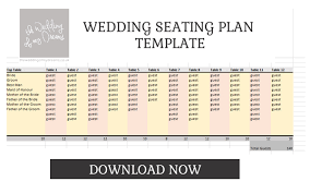 wedding seating plan template