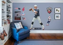 tom brady life size officially licensed nfl removable wall decal fathead wall decal