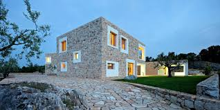 modern home architecture stone. Beautiful Stone Modern Stone House 5 Gorgeous Inspiration Bijaca Dva Arhitekta  Contemporary Building With Home Architecture