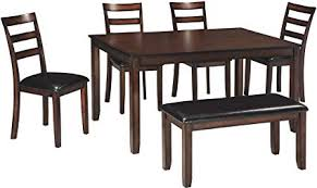 image unavailable image not available for color ashley furniture signature design coviar dining room table and chairs with bench set of