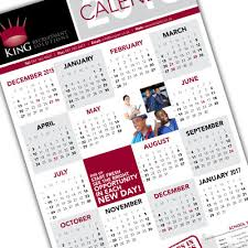 A1 Personalised Wall Calendar