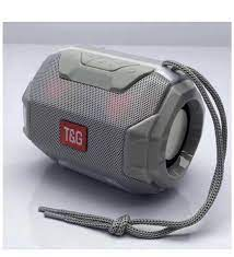 TG162 Işıklı Bluetooth Hoparlör Taşınabilir Ses Bombası-Gümüş Renk