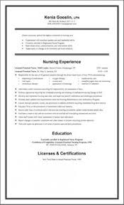 Sample Lpn Resume One Page Resumes Pinterest Nursing Resume