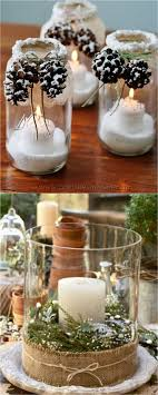 It is easy and fun to make Christmas table decorations from natural  elements such as pine cones and evergreen clippings. Just add a vase or a  jar, a candle, ...