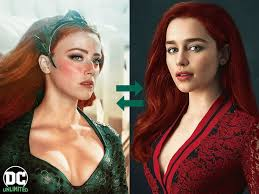 Emilia clarke como mera em aquaman 2 no lugar da amber heard ? Fans Startet Petition For Emilia Clarke To Replace Amber Abuser Heard In Aquaman 2 Doctor Who Fan Art Aquaman Aquaman Powers