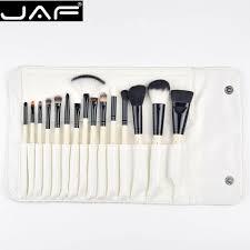 jaf studio 15 piece makeup brush kit super soft hair pu leather case holder make up brush set j1504c w in makeup scissors from beauty health on