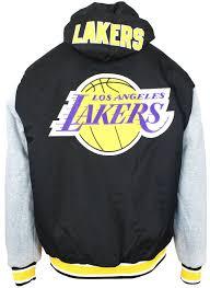 Jh Design Nba Jackets Jh Design Nba Mens Reversible Hooded Fleece Jacket Los
