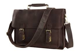 home briefcase santi vintage leather messenger bag