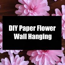 diy paper flower wall hanging