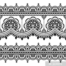 Fototapeta Vinylová Mehndi Indický Henna Tetování Bezešvé Vzor