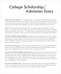 college essay examples personal essay example samples in pdf sample scholarship essay 7 documents in pdf word