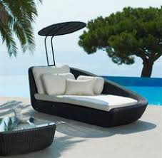 Modern outdoor daybed Inspirations Patio Outdoor Cool Unsusual Patio Furniture Sysnthetic Rattan Wicker Canopy Daybed Black Finish Uv Resistant Pinterest 47 Best Outdoor Daybed Images Outdoor Daybed Gardens Outdoor Living