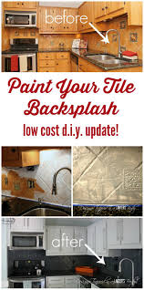 Backsplash Kitchen Tile My Backsplash Solution Yep You Can Paint A Tile Backsplash
